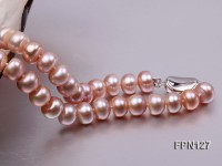 Classic 9-10mm Lavender Flat Cultured Freshwater Pearl Necklace