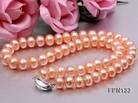 Classic 10-11mm Pink Flat Cultured Freshwater Pearl Necklace