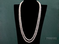 8.5mm 2 strand White freshwater pearl necklace