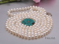 3 strand White freshwater pearl necklace