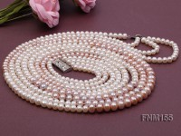 4 strand freshwater pearl necklace