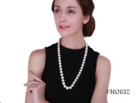 12-15mm Round White Freshwater Pearl Necklace