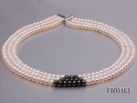 6-7mm flatly freshwater pearl necklace