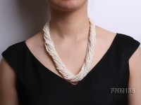 multi strands freshwater white pearl necklace
