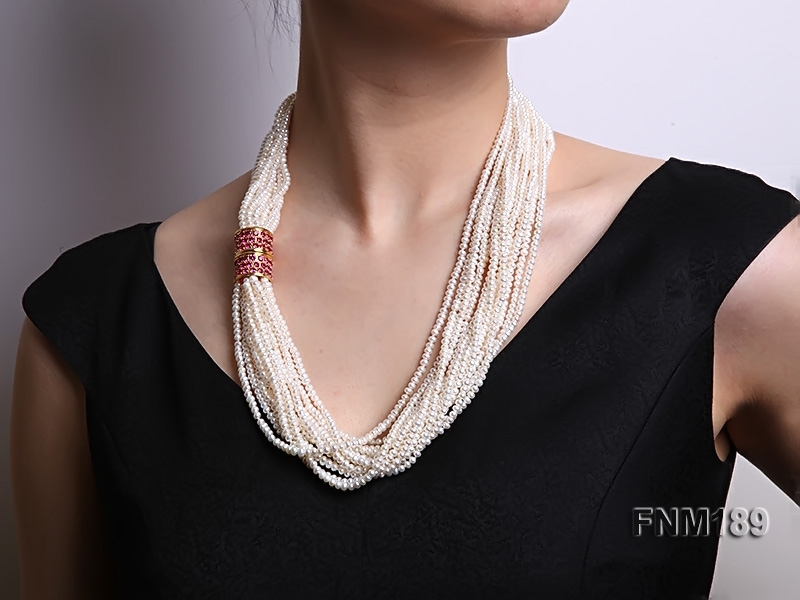 Freshwater Cultured White Pearl Necklace Multi-strands