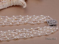 Freshwater white pearl necklace 7-8mm
