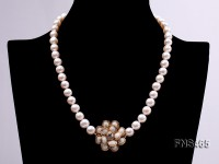 8-9mm natural white freshwater cultured pearl necklace
