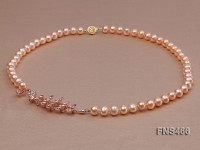 freshwater cultured 8-9mm natural pink pearls necklace