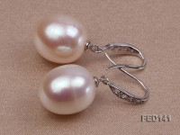 13x15mm White Drop-shaped Freshwater Pearl Earring