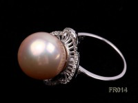 13.5mm Pink edison pearl ring