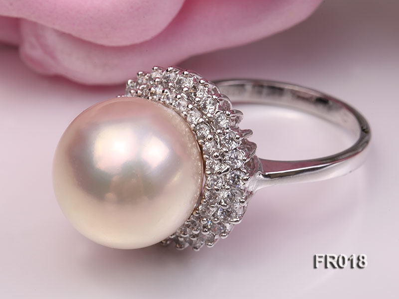 15mm white edison pearl ring