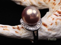 natural 15mm lavender round Edison pearl ring
