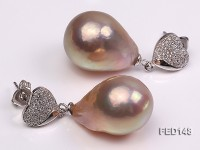 14x20mm Drop-shaped Freshwater Pearl Earring