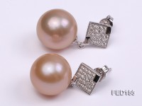 13mm Pink Round Edison Pearl Earring