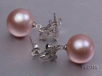 13.5mm Lavender Round Edison Pearl Earring
