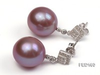 13mm Lavender Near-round Edison Pearl Earring