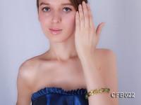 14x18mm Light-green Crystal Beads Elastic Bracelet