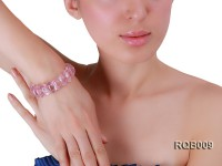 11x20mm Rose Quartz Elastic Bracelet