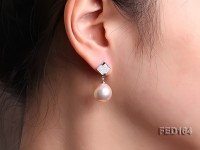 13mm White Near-round Edison Pearl Earring