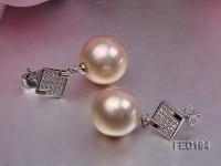 13mm White Near-round Edison Pearl Earring