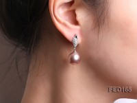 13.5mm Lavender Near-round Edison Pearl Earring
