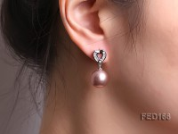 12.5mm Lavender Near-round Edison Pearl Earring