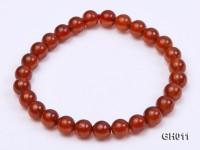 Natural 6.5mm Round Garnet Bracelet
