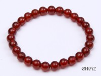 Natural 6-7mm Round Garnet Bracelet