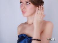 Natural 10mm Round Garnet Bracelet