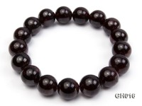 Natural 12mm Round Garnet Bracelet