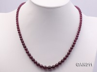 4-9mm Dark Red Garnet Graduate Necklace