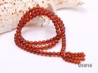 Natural 6mm Round Garnet Long Bracelet