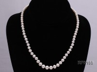 4.5-8mm Graduated Classic White Round Freshwater Pearl Necklace
