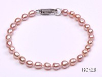 4-5mm lavender oval freshwater pearl bracelet