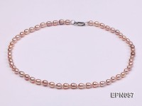 5-6mm Lavender Oval Freshwater Pearl Necklace