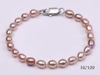 5-6mm lavender oval freshwater pearl bracelet