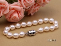 7.5-8mm AAA white oval freshwater pearl bracelet