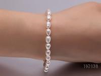 5-6mm white oval freshwater pearl bracelet