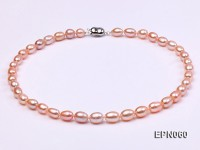 7-8mm Pink Oval Freshwater Pearl Necklace