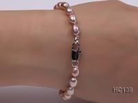 6-7mm lavender oval freshwater pearl bracelet