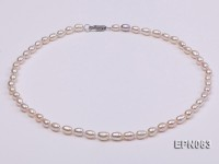 5-6mm White Oval Freshwater Necklace