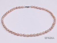 6-7mm Lovely Pink Oval Freshwater Pearl Necklace