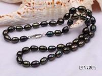 7-8mm  Black Rice-shaped Freshwater Necklace