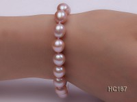 9-10mm Oval Lavender Freshwater Pearl Bracelet