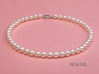Classic 8.5-9.5mm AAAA White Round Cultured Freshwater Pearl Necklace