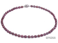 6-7mm Oval Purple Freshwater Pearl Necklace
