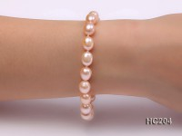 7-8mm pink oval freshwater pearl bracelet