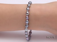 6-7mm grey oval freshwater pearl bracelet