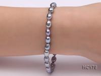 6-7mm grey oval freshwater pearl bracelet
