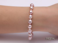 7-8mm lavender oval freshwater pearl bracelet